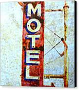 Motel 77 Sign Canvas Print