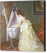 Mother And Baby Canvas Print by Fritz Paulsen