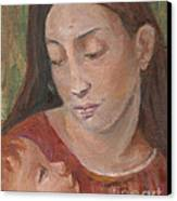 Mother And Child Canvas Print by Lyn Vic