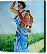 Mother And Child Canvas Print by Tanmay Singh