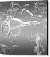 Motorcycle Concept Sketches Canvas Print