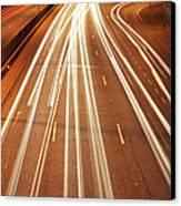 Motorway Light Trails Canvas Print by Richard Newstead