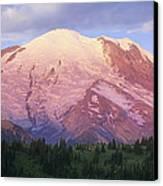 Mount Rainier At Sunrise Mount Rainier Canvas Print by Tim Fitzharris