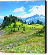 Mount Rainier Summer Colors Canvas Print by Feng Wei Photography