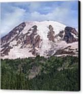 Mount Rainier With Coniferous Forest Canvas Print by Tim Fitzharris