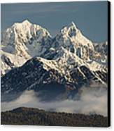 Mount Tasman And Mount Cook Southern Canvas Print by Colin Monteath