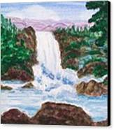 Mountain Falls Canvas Print by Jeanette Stewart