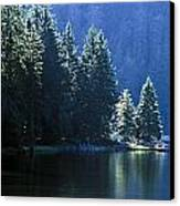 Mountain Lake In Arbersee, Germany Canvas Print by John Doornkamp