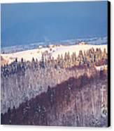 Mountain Landscape In Brasov County Canvas Print