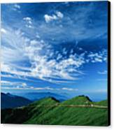 Mountain Road Canvas Print by 1000