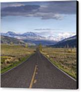 Mountain Road Canvas Print by DBushue Photography