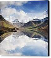 Mountains And Lake, Lake District Canvas Print by John Short