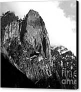 Mountains Of Yosemite . 7d6167 . Black And White Canvas Print by Wingsdomain Art and Photography