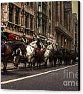 Mounted Police Canvas Print by Rob Hawkins