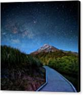 Mt. Ekmond At Night With Starlight Canvas Print