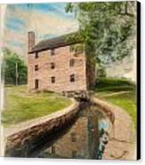 Mt. Vernon Gristmill Art Canvas Print by Jim Moore
