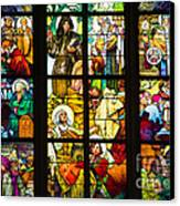Mucha Window St Vitus Cathedral Prague Canvas Print by Matthias Hauser