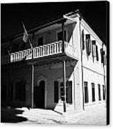 Municipal Cultural Centre And City Museum And Archives In The Restored Old Colonial Port Larnaca  Canvas Print