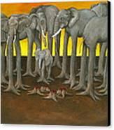 Murder The Wise Oh Ganesha Canvas Print by David  Nixon