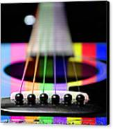 Music Is A Rainbow To The Heart Canvas Print by Andee Design