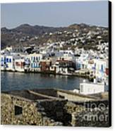 Mykonos Canvas Print by Leslie Leda