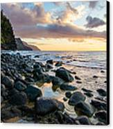 Na Pali Sunset Canvas Print by Adam Pender