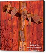 Nailing My Sins To The Cross Canvas Print by Cindy Wright