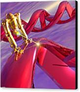 Nanorobot On Dna Canvas Print by Victor Habbick Visions