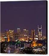 Nashville Cityscape 9 Canvas Print by Douglas Barnett