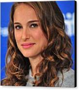Natalie Portman At The Press Conference Canvas Print by Everett