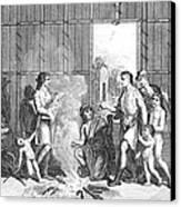 Native Americans: Divorce Ceremony Canvas Print
