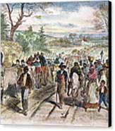 Nc: Freed Slaves, 1863 Canvas Print