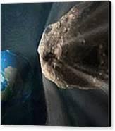 Near-earth Asteroid, Artwork Canvas Print by Henning Dalhoff