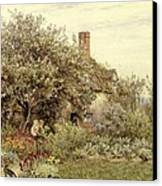 Near Hambledon Canvas Print by Helen Allingham