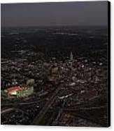 Nebraska Memorial Stadium And Campus Canvas Print by PRANGE Aerial Photography
