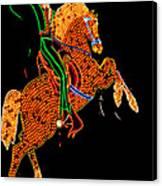 Neon Cowboy Las Vegas Canvas Print by Garry Gay