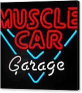 Neon Muscle Canvas Print