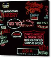 Neon Signs, 1937-1971 Canvas Print by Granger