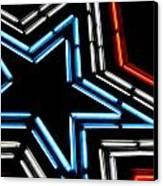 Neon Star Canvas Print by Darren Fisher
