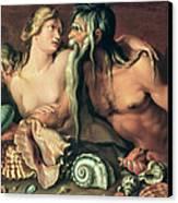 Neptune And Amphitrite Canvas Print by Jacob II de Gheyn