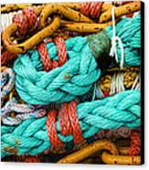 Nets And Knots Number Four Canvas Print by Elena Nosyreva