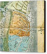 New England To Virginia, 1651 Canvas Print by Photo Researchers