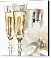 New Year Champagne Canvas Print by Amanda Elwell