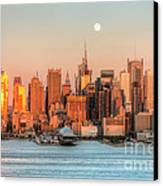 New York City Moonrise IIi Canvas Print by Clarence Holmes