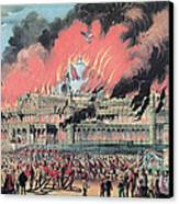 New York Crystal Palace Fire, 1858 Canvas Print by Photo Researchers