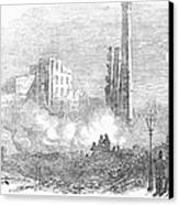 New York: Fire, 1853 Canvas Print by Granger