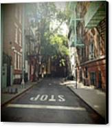 New York On Idealic Street Canvas Print by Lori Andrews