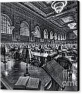 New York Public Library Main Reading Room Vi Canvas Print by Clarence Holmes