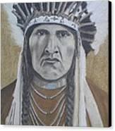 Nez Perce American Native Indian Canvas Print by David Hawkes