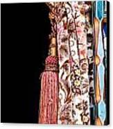 Nice Curtain Canvas Print by Tom Gowanlock